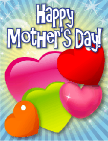 Colorful Hearts Small Mother's Day Card Greeting Card