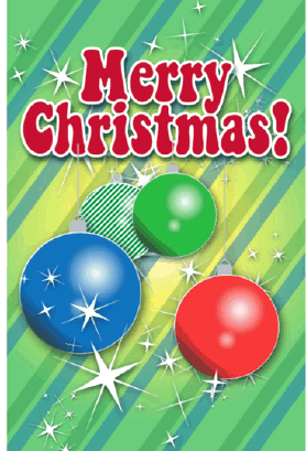 Colorful Ornaments Christmas Card Greeting Card