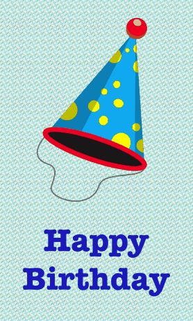 Colorful Party Hat Birthday Card Greeting Card