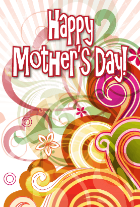 Colorful Swirls Mother's Day Card Greeting Card