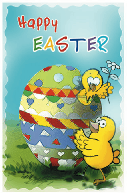 Easter Card with Chick and Egg Greeting Card