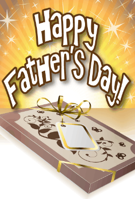 Fancy Box Father's Day Card Greeting Card