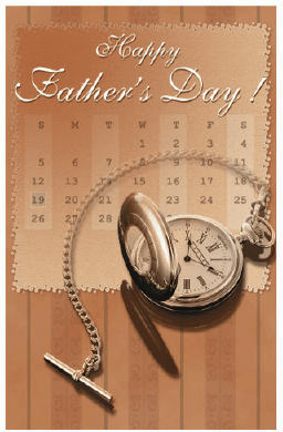 Father's Day Card with Pocket Watch Greeting Card