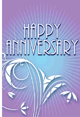 Floral Anniversary Card Greeting Card