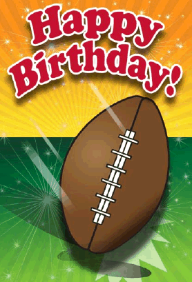 Football Birthday Card Greeting Card