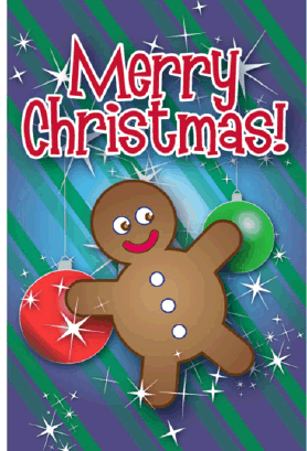 Gingerbread Man Christmas Card Greeting Card