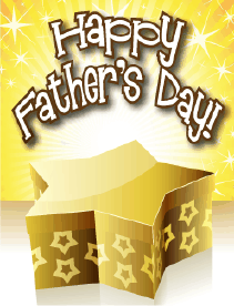 Gold Star Small Father's Day Card Greeting Card