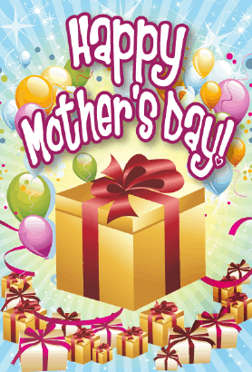 Golden Boxes Mother's Day Card Greeting Card
