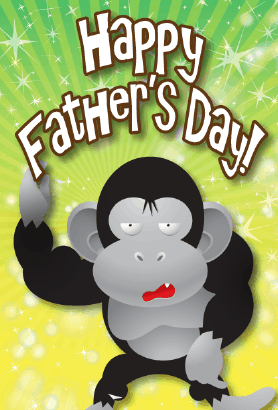 Gorilla Father's Day Card Greeting Card