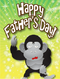 Gorilla Small Father's Day Card Greeting Card