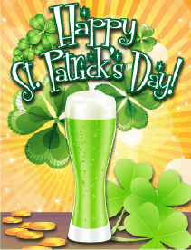 Green Beer Small St Patrick's Day Card Greeting Card