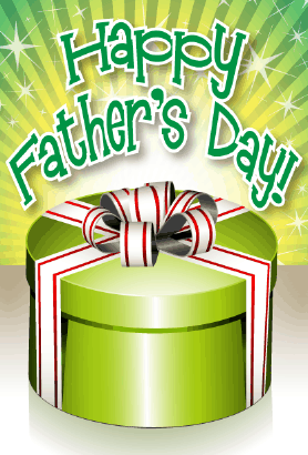 Green Box Father's Day Card Greeting Card