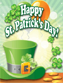 Green Hat Small St Patrick's Day Card Greeting Card