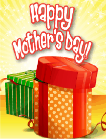 Green and Orange Boxes Small Mother's Day Card Greeting Card