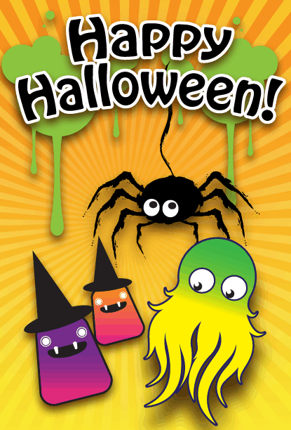 Happy Halloween Spider Card Greeting Card