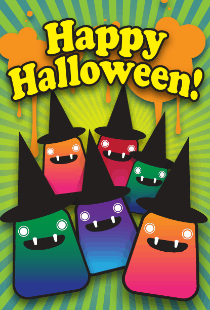 Witch Party Halloween Card Greeting Card