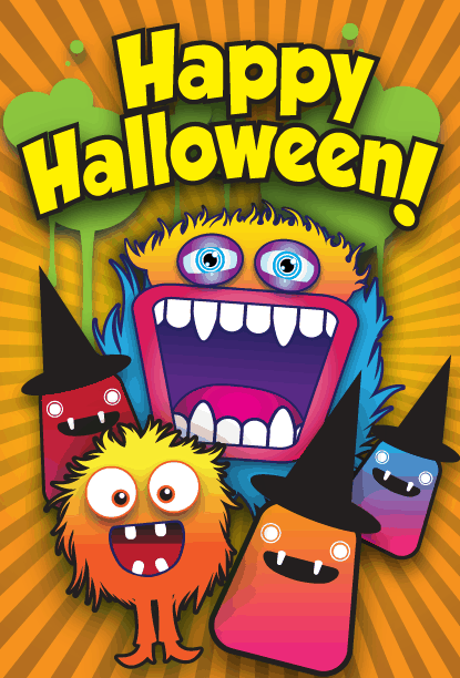Assorted Monster Party Card Greeting Card