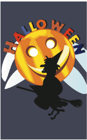 Halloween Card with Witch Greeting Card