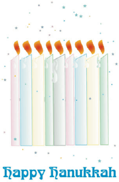 Hanukkah Card with Candles Greeting Card