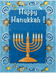 Hanukkah Card with Menorah (small) Greeting Card