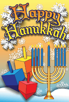 Happy Hanukkah Menorah Card Greeting Card