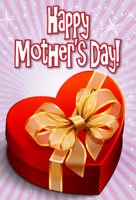 Heart-shaped Box Mother's Day Card Greeting Card