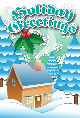 Holiday Greetings Card Greeting Card