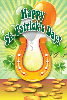 Horseshoe St Patrick's Day Card Greeting Card