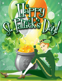 Lady Leprechaun Small St Patrick's Day Card Greeting Card