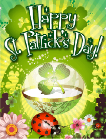 Ladybug Small St Patrick's Day Card Greeting Card