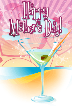 Martini on the Beach Mother's Day Card Greeting Card