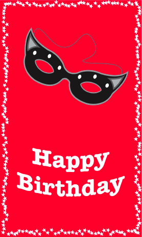 Masquerade Birthday Card Greeting Card