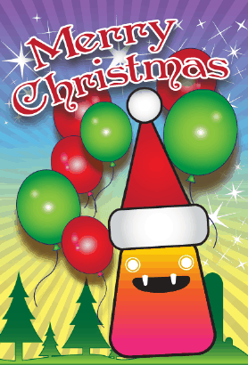 Merry Christmas Elf Card Greeting Card