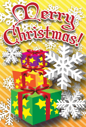 Merry Christmas Gifts Card Greeting Card