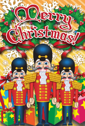 Merry Christmas Nutcrackers Card Greeting Card