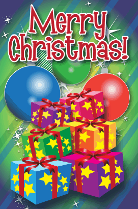 Merry Christmas Ornaments Card Greeting Card