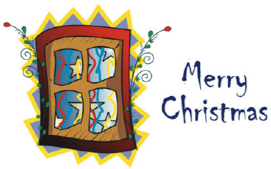 Christmas Card with Window Greeting Card