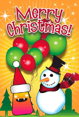 Monster Snowman Monster Christmas Card Greeting Card