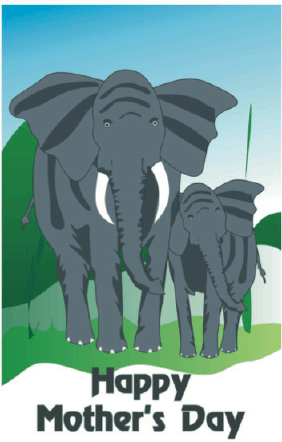 Mother's Day Card with Elephants Greeting Card