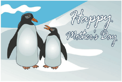 Mother's Day Card with Penguins Greeting Card