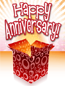 Open Box Small Anniversary Card Greeting Card