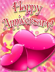 Pair of Hearts Small Anniversary Card Greeting Card