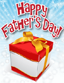Red and White Gift Small Father's Day Card Greeting Card