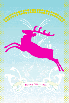 Reindeer Christmas Card Greeting Card