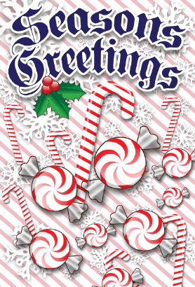 Seasons Greetings Candies Card Greeting Card