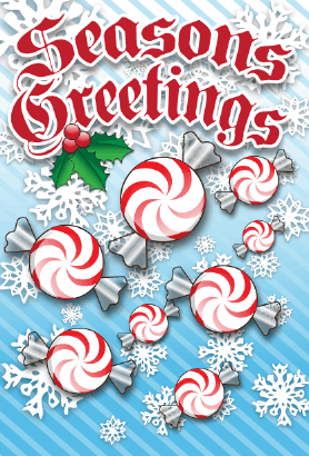 Seasons Greetings Candy Card Greeting Card