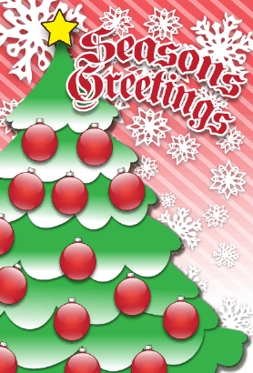 Seasons Greetings Christmas Tree Card Greeting Card