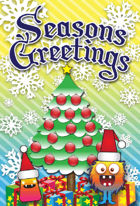 Seasons Greetings Monster Card Greeting Card