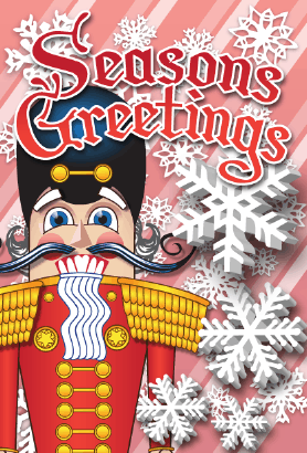 Seasons Greetings Nutcracker Card Greeting Card