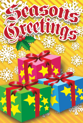 Seasons Greetings Packages Card Greeting Card